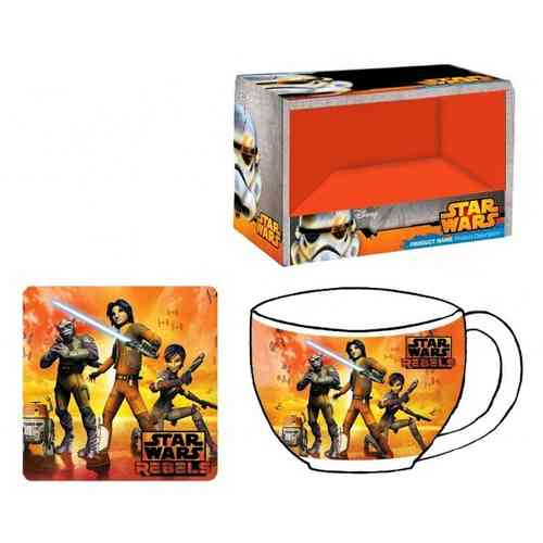 Tazon + Posavasos Star Wars Rebels