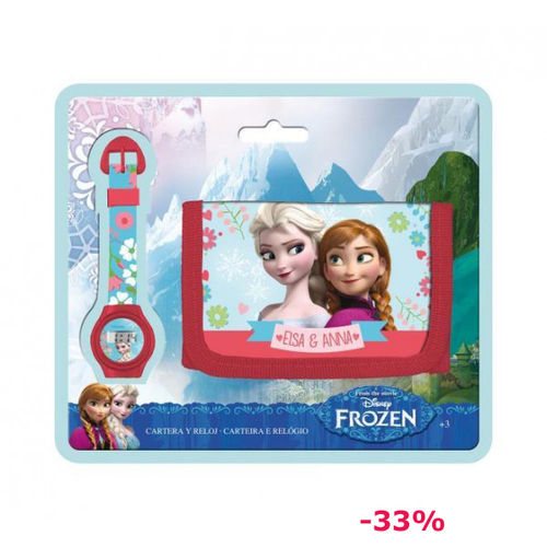 Set regalo Billetero+Reloj Frozen