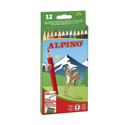 Pack Alpino 12 Lápices Colores