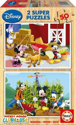 Puzzle Mickey Club House 2x50 piezas