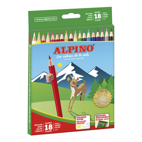 Pack Alpino 18 Lápices Colores